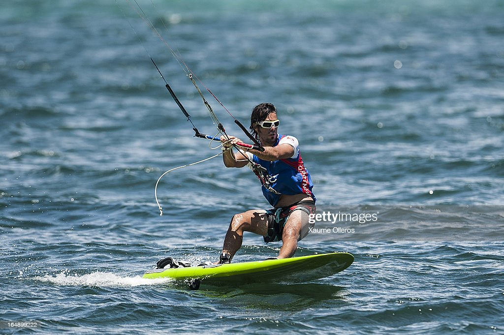 Taner Aykurt of Turkey competes in Race board racing during day four of the KTA at Boracay Island on March 29, 2013 in Makati, Philippines.