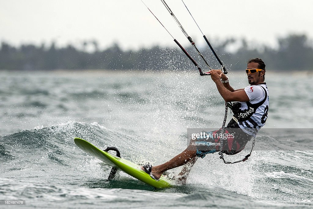 Taner Aykurt of Turkey in action on race competition during day four of the 1st KTA Bintan at Argo Beach Resort on February 24, 2013 in Bintan Island, Indonesia.