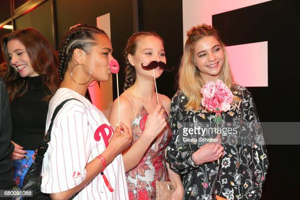Taneshia Abt and Sonja Gerhardt during the New Faces Award Film at Haus Ungarn on April 27 2017 in Berlin Germany