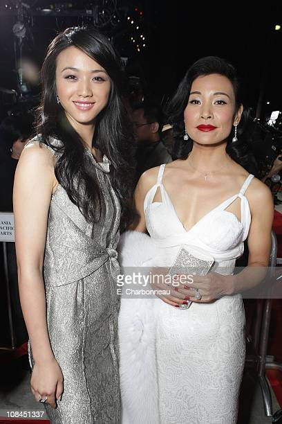 Tang Wei and Joan Chen at the Los Angeles Premiere of 'Lust Caution' presented by Focus Features at the Academy of Motion Pictures Arts and Sciences...