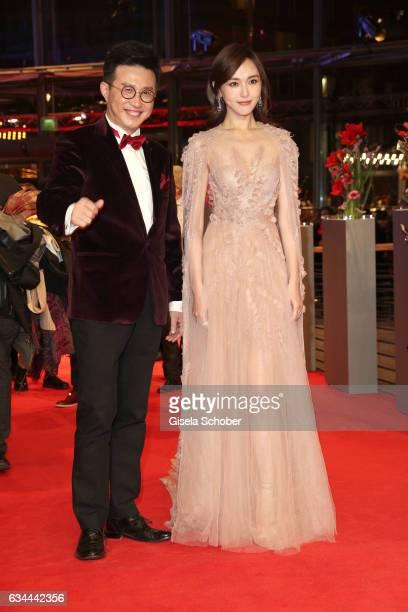 Tang Yan aka Tiffany Tang and Richard Shen attend the 'Django' premiere during the 67th Berlinale International Film Festival Berlin at Berlinale...