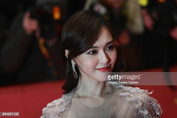 Tang Yan attends the 'Django' premiere during the 67th Berlinale International Film Festival Berlin at Berlinale Palace on February 9 2017 in Berlin...