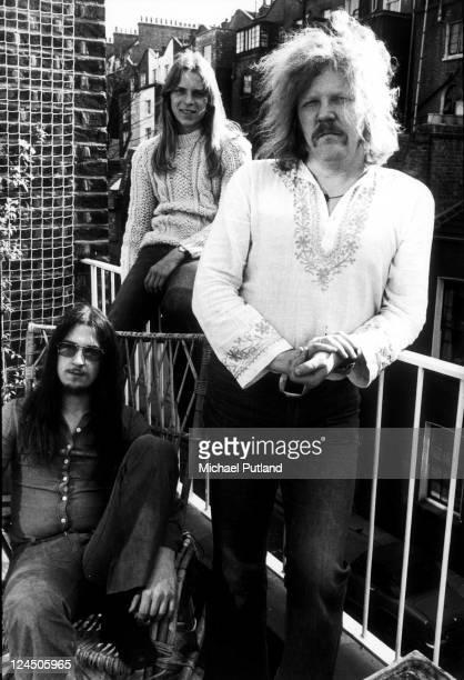 Tangerine Dream group portrait London LR Christopher Franke Peter Baumann Edgar Froese