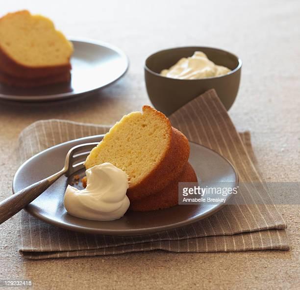 Tangerine Olive Oil Pound Cake, Whipped Cream