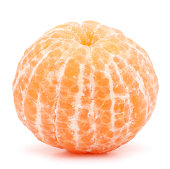 tangerine or mandarin fruit  on white background