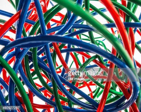 Tangle of Colorful Tubing