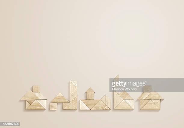 tangram houses