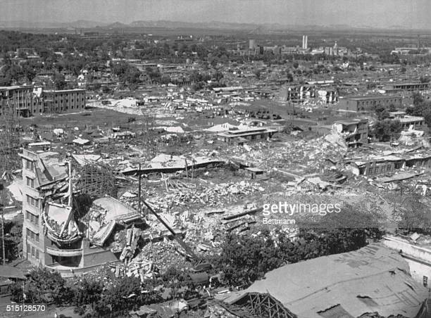 A partial view of Tangshan City in Hobei province where an earthquake with a force of 78 on the Richter Scale rocked the city on July 28 1976