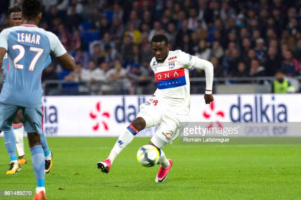 Tanguy Ndombele Alvaro during the Ligue 1 match between Olympique Lyonnais and AS Monaco at Stade des Lumieres on October 13 2017 in Lyon
