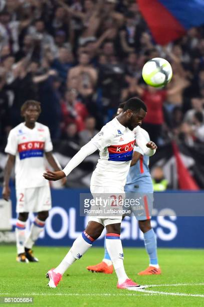 Tanguy Ndombele Alvaro of Lyon during the Ligue 1 match between Olympique Lyonnais and AS Monaco at Stade des Lumieres on October 13 2017 in Lyon