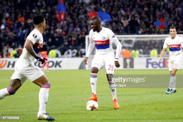 Tanguy Ndombele of Lyon during europa league match between Olympique Lyonnais and Apollon Limassol at Parc Olympique on November 23 2017 in Lyon...