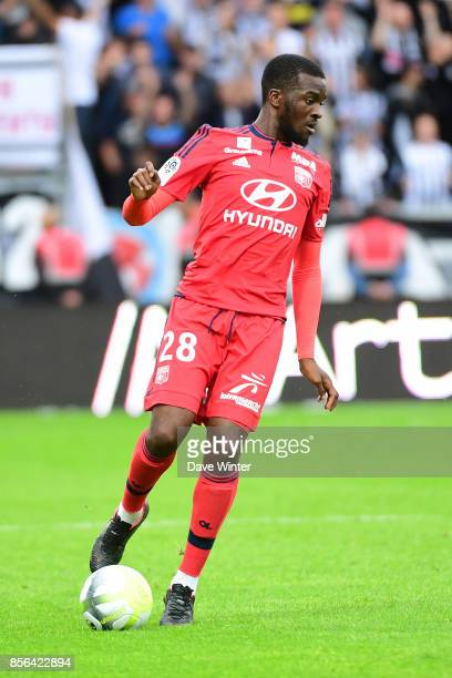 Tanguy Ndombele of Lyon during the Ligue 1 match between Angers SCO and Olympique Lyonnais at Stade Raymond Kopa on October 1 2017 in Angers France