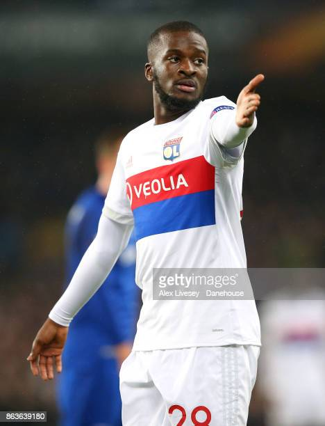 Tanguy Ndombele of Olympique Lyon during the UEFA Europa League group E match between Everton FC and Olympique Lyon at Goodison Park on October 19...