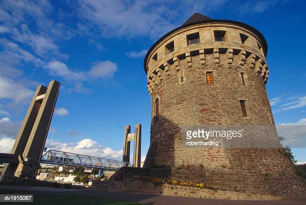 Tanguy Tower and recouvrance Bridge, Brest, Brittany, France