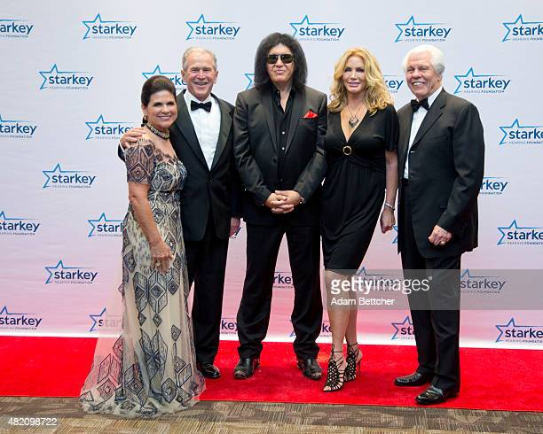 Tani Austin George W Bush Gene Simmons Shannon Tweed and Bill Austin pose at the 2015 Starkey Hearing Foundation So The World May Hear Gala at the St...