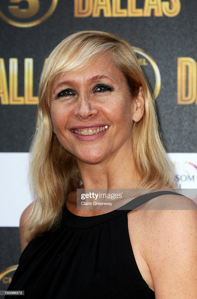Tania Bryer arrives at the launch party for the new Channel 5 television series of 'Dallas' at Old Billingsgate on August 21, 2012 in London, England.