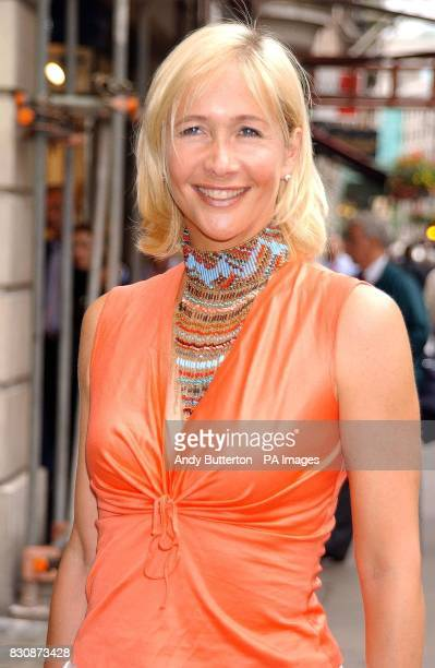 Tania Bryer arriving at the BAFTA offices in London's Piccadilly for the Cable Guide TV Awards 2002