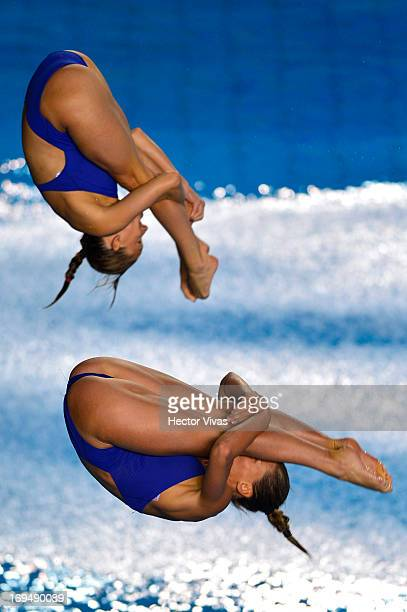 Tania Cagnotto and Francesca Dallape from Italy during the Women's 3 meters Synchronized Springboard Finals of the FINA MIDEA Diving World Series...