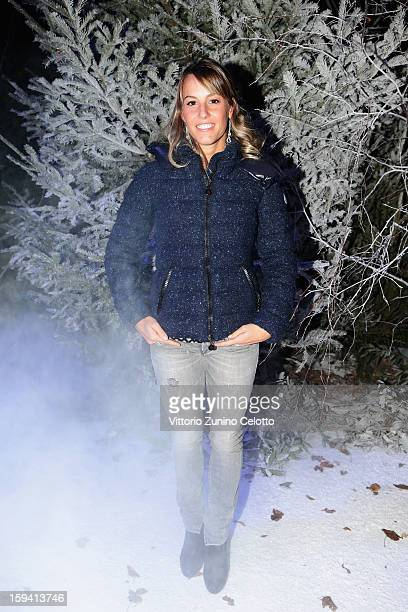 Tania Cagnotto attends the Moncler Gamme Bleu show as part of Milan Fashion Week Menswear Autumn/Winter 2013 on January 13 2013 in Milan Italy