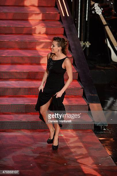 Tania Cagnotto attends the opening night of the 64th Festival di Sanremo 2014 at Teatro Ariston on February 18 2014 in Sanremo Italy