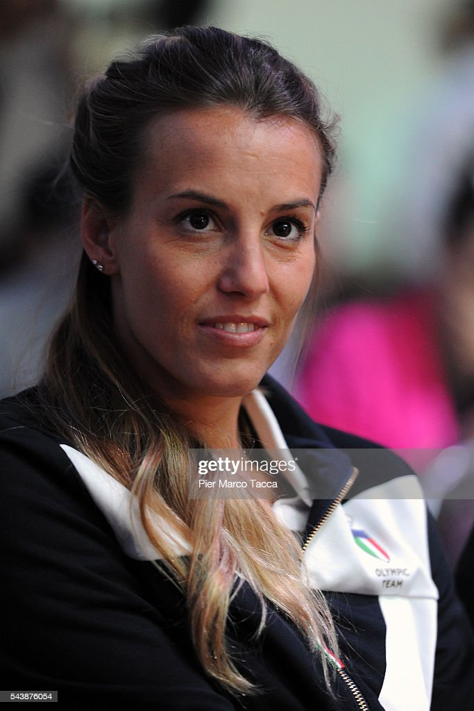 <a gi-track='captionPersonalityLinkClicked' href=/galleries/search?phrase=Tania+Cagnotto&family=editorial&specificpeople=201209 ng-click='$event.stopPropagation()'>Tania Cagnotto</a> attends the Samsung Galaxy Team press conference on June 30, 2016 in Milan, Italy.