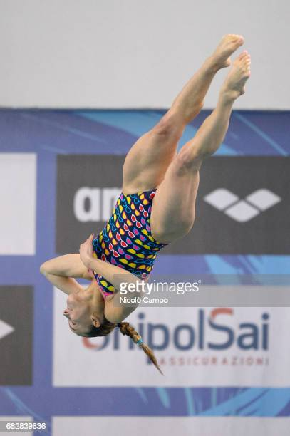 Tania Cagnotto competes in Women's 1m springboard Final during the 2017 Indoor Diving Italian Championships Tania Cagnotto announced that this will...