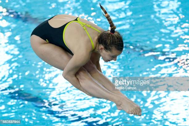 Tania Cagnotto competes in Women's 1m springboard qualifying round during the 2017 Indoor Diving Italian Championships Tania Cagnotto announced that...