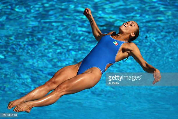 Tania Cagnotto of Italy competes in the Women's 1m Springboard Final at the Stadio del Nuoto on July 19 2009 in Rome Italy