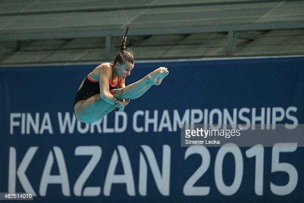 Tania Cagnotto of Italy competes in the Women's 3m Springboard Diving Semifinals on day seven of the 16th FINA World Championships at the Aquatics...