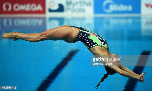 Tania Cagnotto of Italy competes in the Women's 3m Springboard Diving Final on day eight of the 16th FINA World Championships at the Aquatics Palace...
