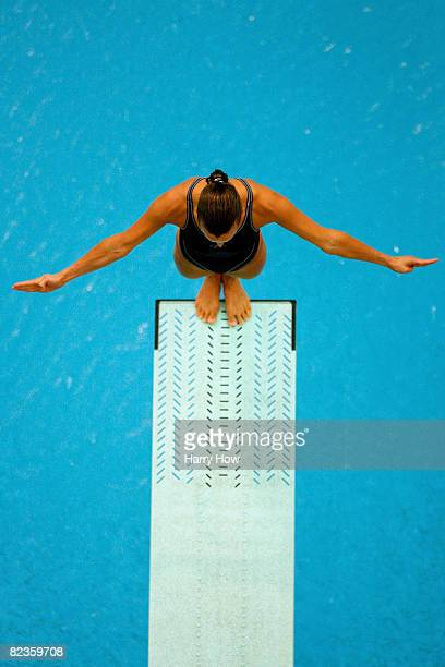 Tania Cagnotto of Italy dives in the Women's 3m Springboard Preliminary held at the National Aquatics Centre during Day 7 of the Beijing 2008 Olympic...