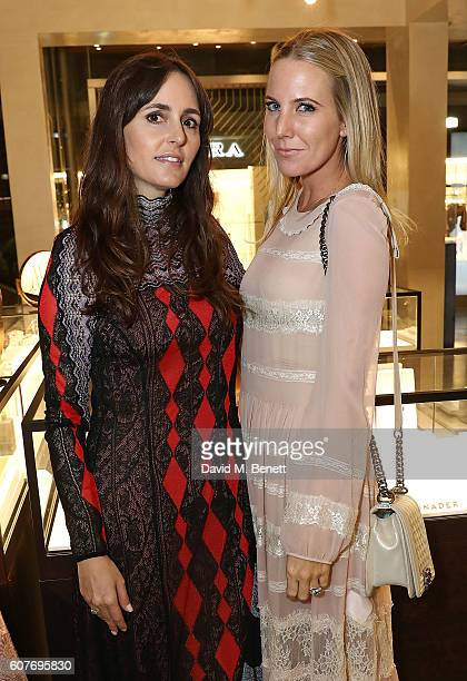 Tania Fares and Alice Naylor Leyland attend an intimate dinner hosted by Monica Vinader to celebrate Fashion Artist Jenny Walton's illustrations of...
