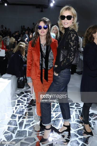 Tania Fares and Eva Herzigova attend the Christian Dior show as part of the Paris Fashion Week Womenswear Spring/Summer 2018 on September 26 2017 in...