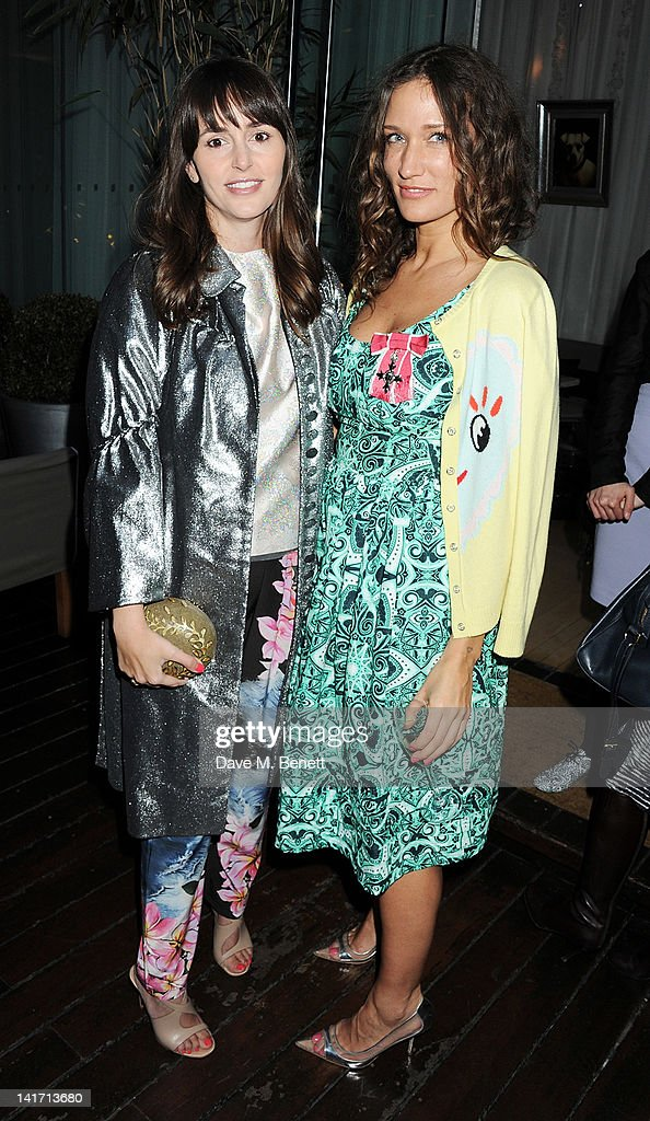 Tania Fares and fashion designer and founder of the Fashion East Initiative Lulu Kennedy attends a tea party in celebration of Lulu's newly bestowed...