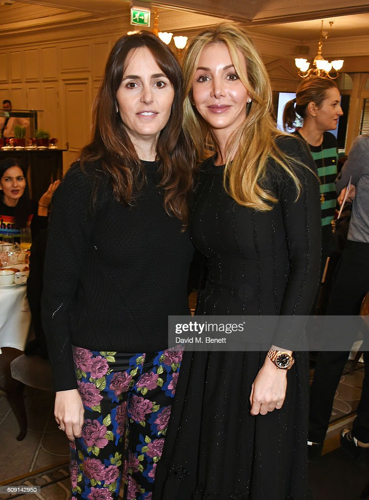 Tania Fares (L) and Helen David attend the Hoping Breakfast for Palestinian refugee children at Harrods on February 9, 2016 in London, England.