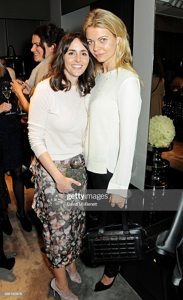 Tania Fares (L) and <a gi-track='captionPersonalityLinkClicked' href=/galleries/search?phrase=Jemma+Kidd&family=editorial&specificpeople=206527 ng-click='$event.stopPropagation()'>Jemma Kidd</a>, Countess of Mornington attend the ESCADA/Harper's Bazaar book reading with Fatima Bhutto, reading from her novel 'The Shadow Of The Crescent Moon', at the ESCADA Knightbridge boutique on December 11, 2013 in London, England.