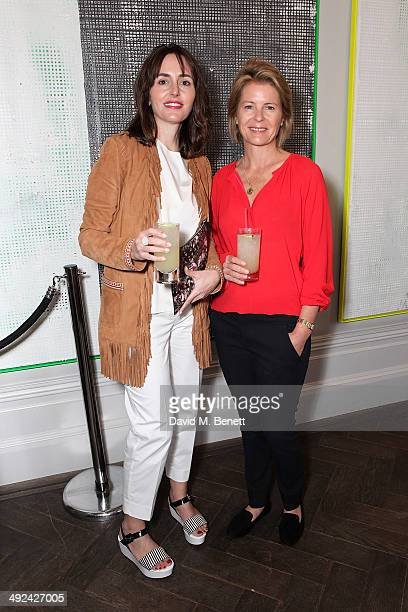 Tania Fares and Serena Linley attend a private lunch hosted by Sacha Forbes in association with Sybarite jewellery at The Arts Club on May 20 2014 in...