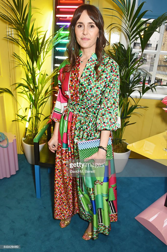 Tania Fares attends a drinks reception and dinner in celebration of the Sabine Getty Showroom in Berkeley Square on June 28, 2016 in London, England.