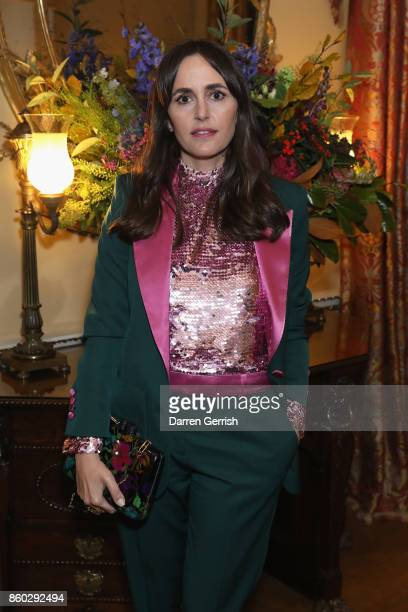 Tania Fares attends Giampiero Bodino's 'Beauty Is My Favourite Colour' cocktails and dinner evening at Spencer House on October 11 2017 in London...