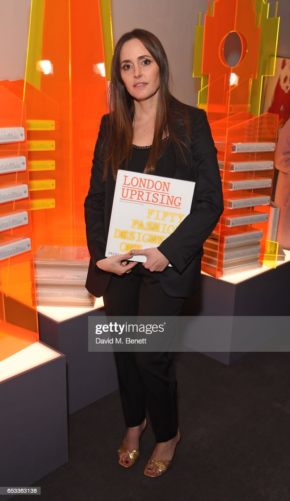 Tania Fares attends the launch of new book 'London Uprising: Fifty Fashion Designers, One City' by Tania Fares and Sarah Mower at Sotheby's on March 14, 2017 in London, England.