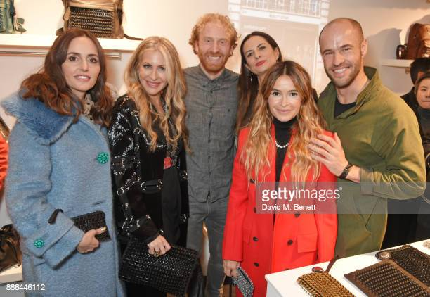 Tania Fares Carmen Busquets Oliver Wayman Livia Firth Miroslava Duma and Cameron Saul attend the opening of the BOTTLETOP flagship store on Regent...