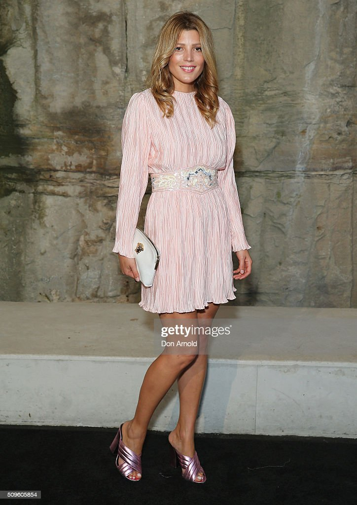 Tania Gacic arrives ahead of the Myer AW16 Fashion Launch at Barangaroo Reserve on February 11, 2016 in Sydney, Australia.
