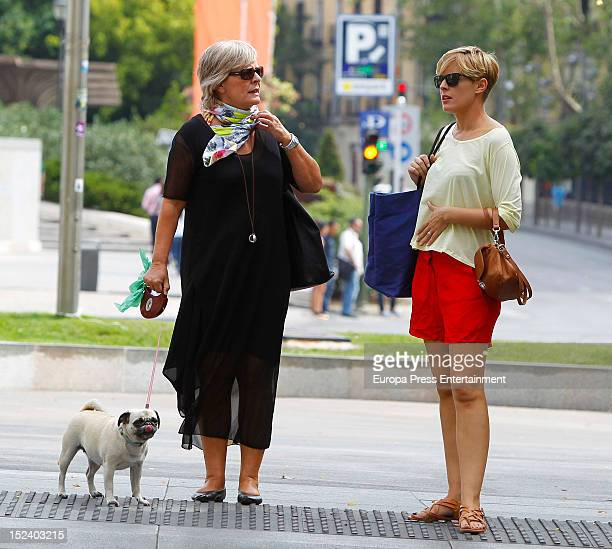 Tania Llasera and her mother are seen on September 19 2012 in Madrid Spain