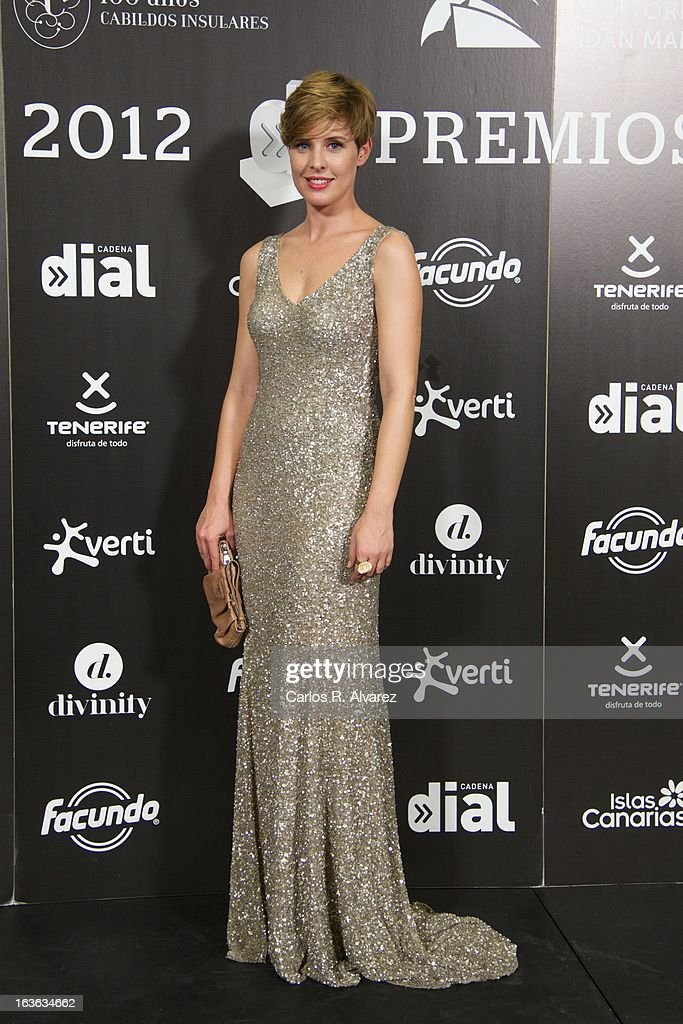 Tania Llasera attends Cadena Dial awards 2013 press room at the Adan Martin auditorium on March 13, 2013 in Tenerife, Spain.