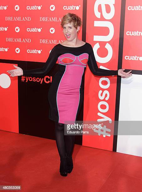 Tania Llasera attends 'Dreamland' premiere photocall at Joy Eslava disco on March 24 2014 in Madrid Spain