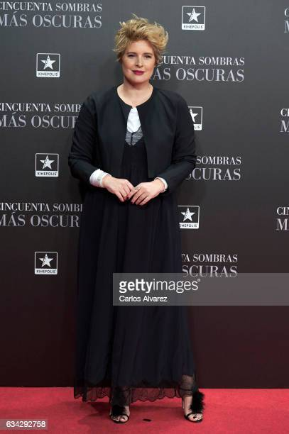 Tania Llasera attends 'Fifty Shades Darker' premiere at the Kinepolis cinema on February 8 2017 in Madrid Spain