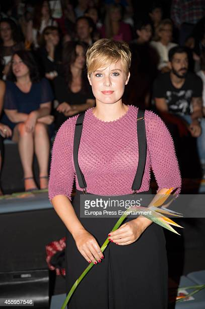 Tania Llasera attends Mercedes Benz Fashion Week Madrid at Ifema on September 14 2014 in Madrid Spain