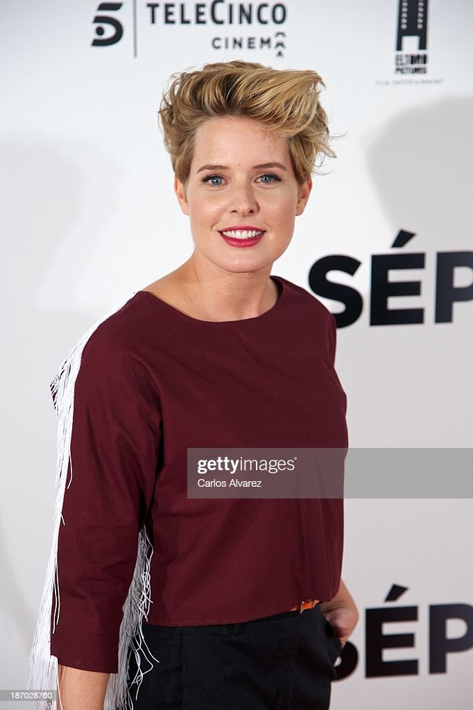 <a gi-track='captionPersonalityLinkClicked' href=/galleries/search?phrase=Tania+Llasera&family=editorial&specificpeople=6514625 ng-click='$event.stopPropagation()'>Tania Llasera</a> attends the 'Septimo' premiere at the Capitol cinema on November 5, 2013 in Madrid, Spain.