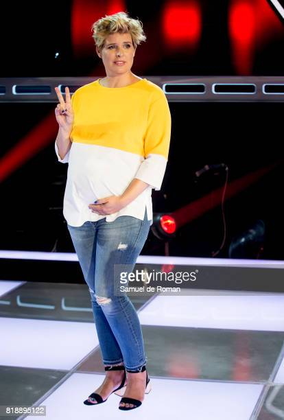 Tania Llasera during 'La Voz' 5th Edition and 'La Voz Kids' 4th Edition Presentation on July 19 2017 in Madrid Spain
