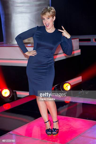 Tania Llasera poses during a photocall to present the new season of 'La Voz' at 'Picasso' studios on January 9 2015 in Madrid Spain